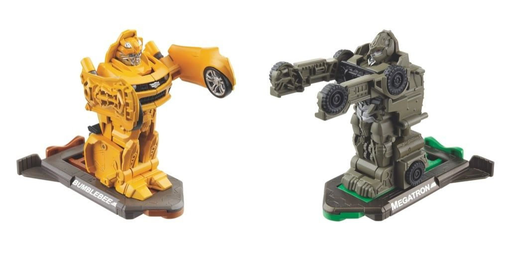 Transformers 3 Dark of the Moon Bumblebee vs Megatron (Robo Power Bash Bots) toy