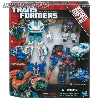 Transformers Generations Ultimate Gift Set: Combat Hero Optimus Prime, Autobot Jazz, Motorbreath, Thundercracker toy