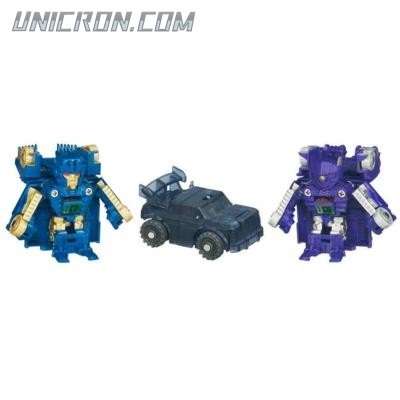 Transformers Bot Shots Decepticon Brawl, Shockwave, Ironhide (Bot Shots: 3-pack) toy