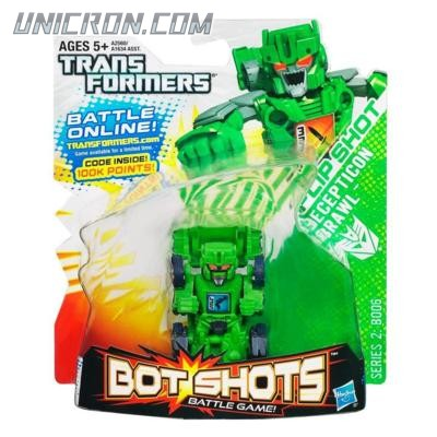 Transformers Bot Shots Flip Shot Decepticon Brawl toy