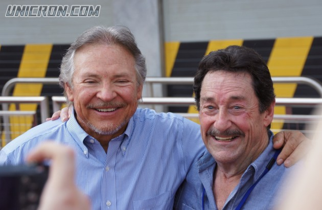 Frank Welker (Megatron) and Peter Cullen, Optimus Prime -arm-in-arm!