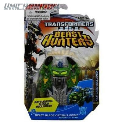 Transformers Prime Cyberverse Commander Beast Blade Optimus Prime toy