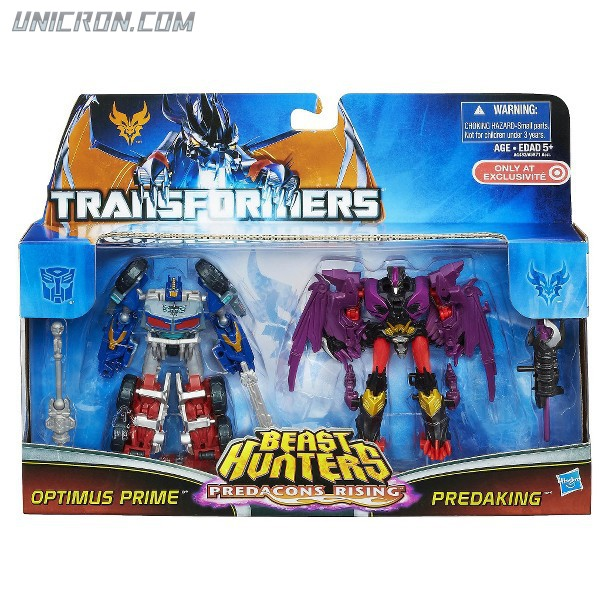 Transformers Prime Predacons Rising: Commander 2-pack, Optimus Prime, Predaking toy