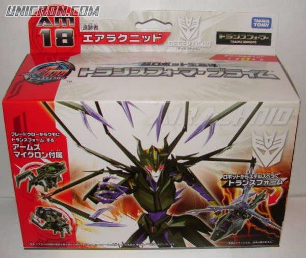 Transformers Prime (Arms Micron - Takara) AM-18 Airachnid with Ida toy