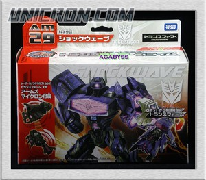 Transformers Prime (Arms Micron - Takara) AM-29 Shockwave with Bido toy