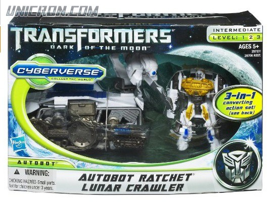 Transformers Cyberverse Autobot Ratchet w/ Lunar Crawler toy