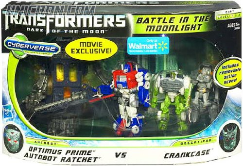 Transformers Cyberverse Battle in the Moonlight - Optimus Prime & Ratchet vs Crankcase toy