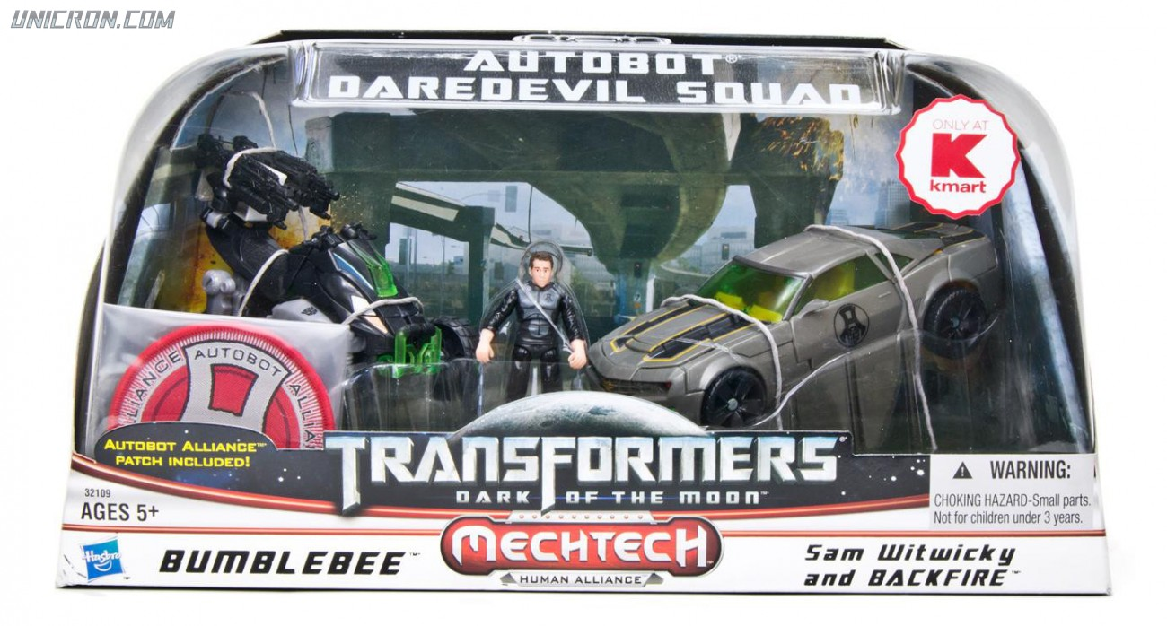 Transformers 3 Dark of the Moon Autobot Daredevil Squad (Bumblebee with Sam Witwicky & Backfire) toy