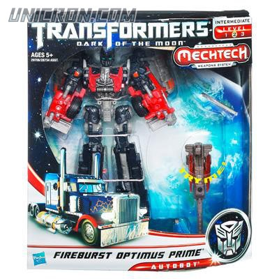 Transformers 3 Dark of the Moon Fireburst Optimus Prime toy