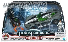 Transformers 3 Dark of the Moon Flash Freeze Assault Set (Sideswipe with Sergeant Chaos & Icepick) toy