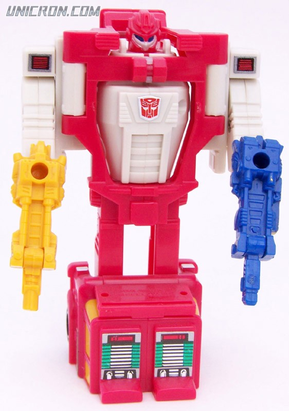 Transformers Generation 1 Quickmix (Targetmaster) with Ricochet and Boomer toy