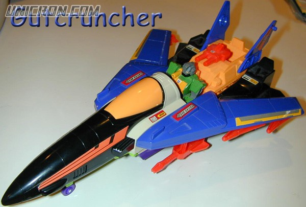 Transformers Generation 1 Gutcruncher (Action Master) with Stratotronic Jet toy