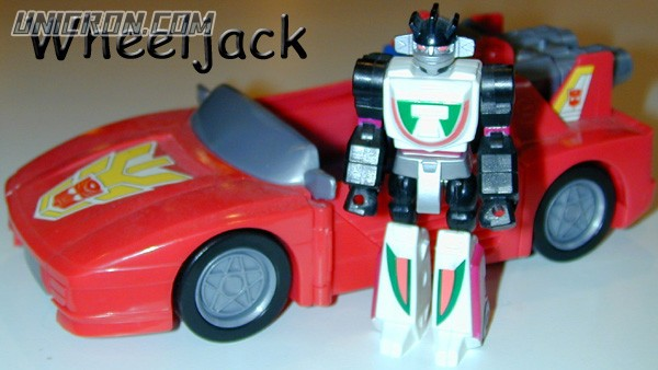 Transformers Generation 1 Wheeljack (Action Master) with Turbo Racer toy