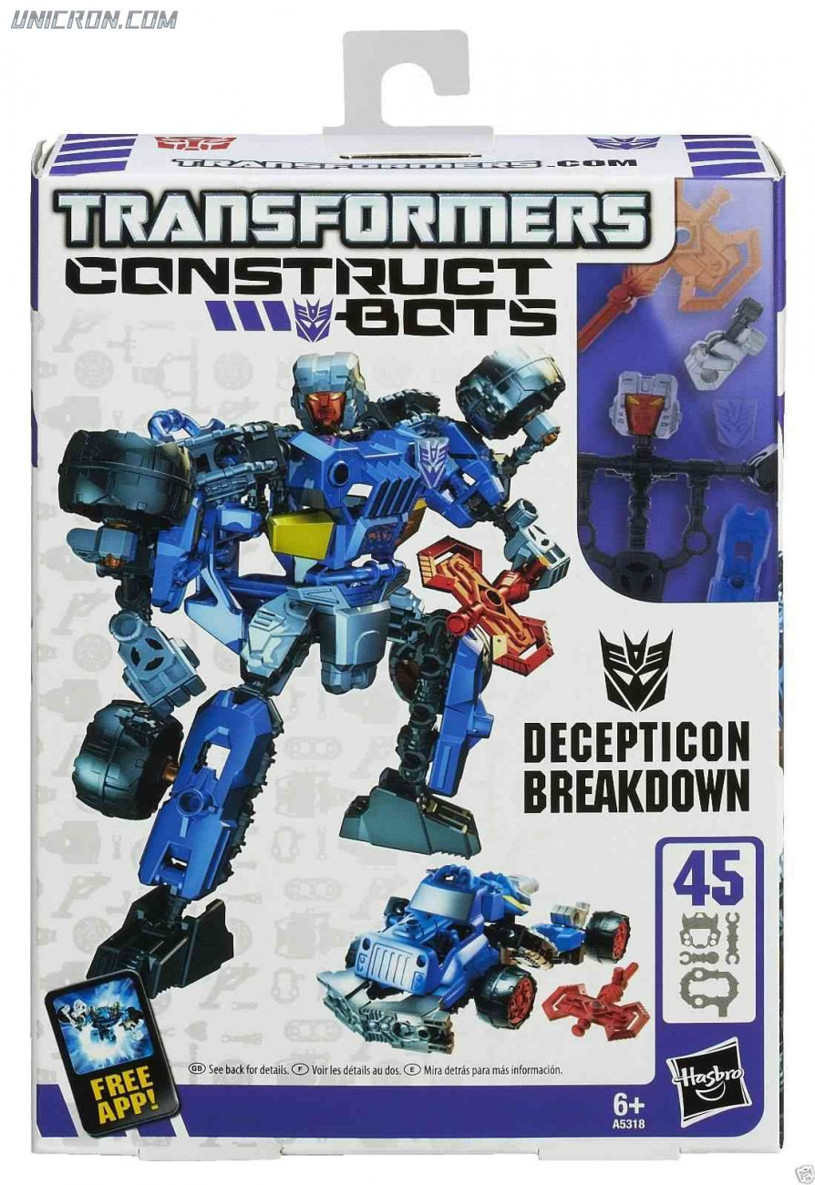Transformers Construct-Bots Breakdown - Construct-Bots toy