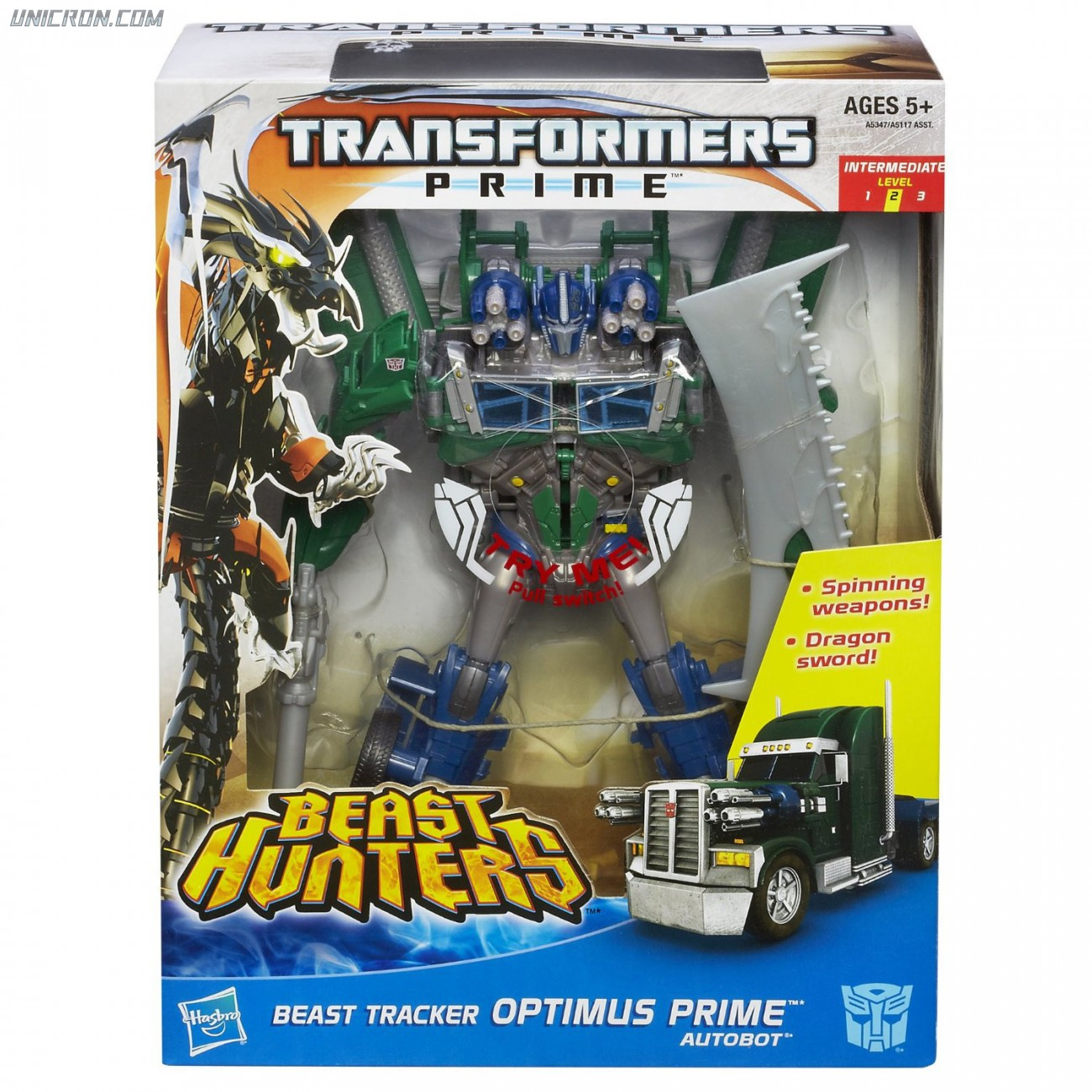 Transformers Prime Beast Tracker Optimus Prime toy