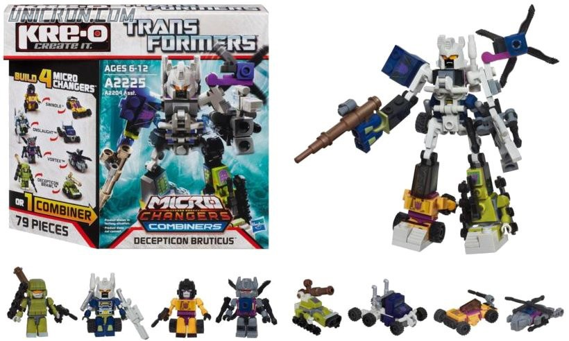 Transformers Kre-O Bruticus (Vortex, Swindle, Onslaught, Decepticon Brawl) (Kre-O Microchanger Combiners) toy