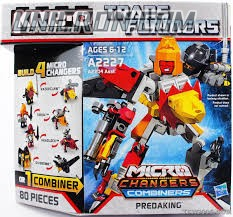 Transformers Kre-O Predaking (Razorclaw, Divebomb, Torox and Headlock), (Kre-O Microchanger Combiners) toy