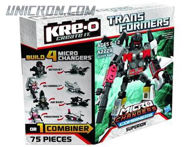 Transformers Kre-O Superion (Skydive, Silverbolt, Air Raid, Firestrike), (Kre-O Microchanger Combiners) toy