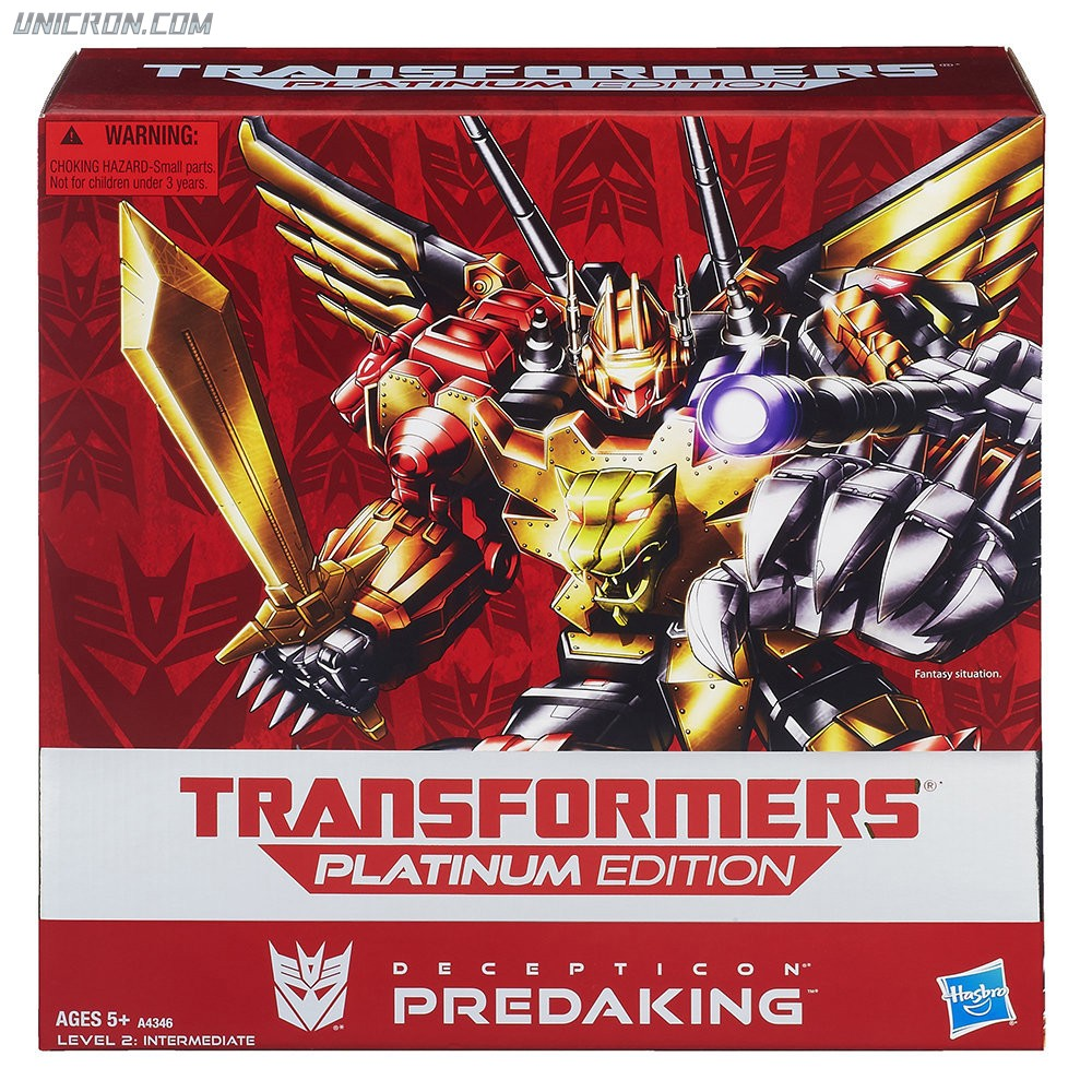 Transformers Platinum Edition Predaking (Platinum Giftset, with Predacon Divebomb, Predacon Headstrong, Predacon Rampage, Predacon Razorclaw, and Predacon Torox) toy