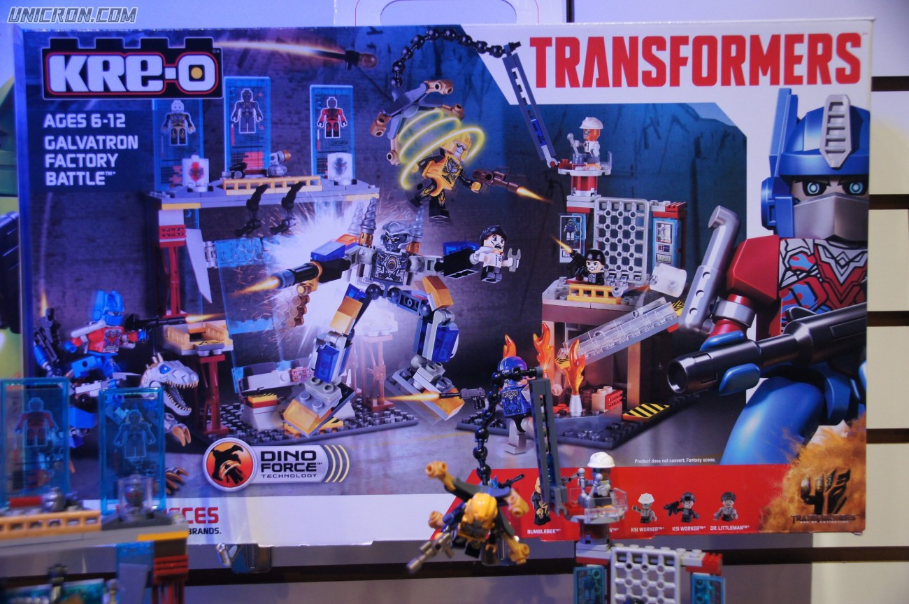 Transformers Kre-O Galvatron Factory Battle (Kre-O, with Optimus Prime and Bumblebee) toy