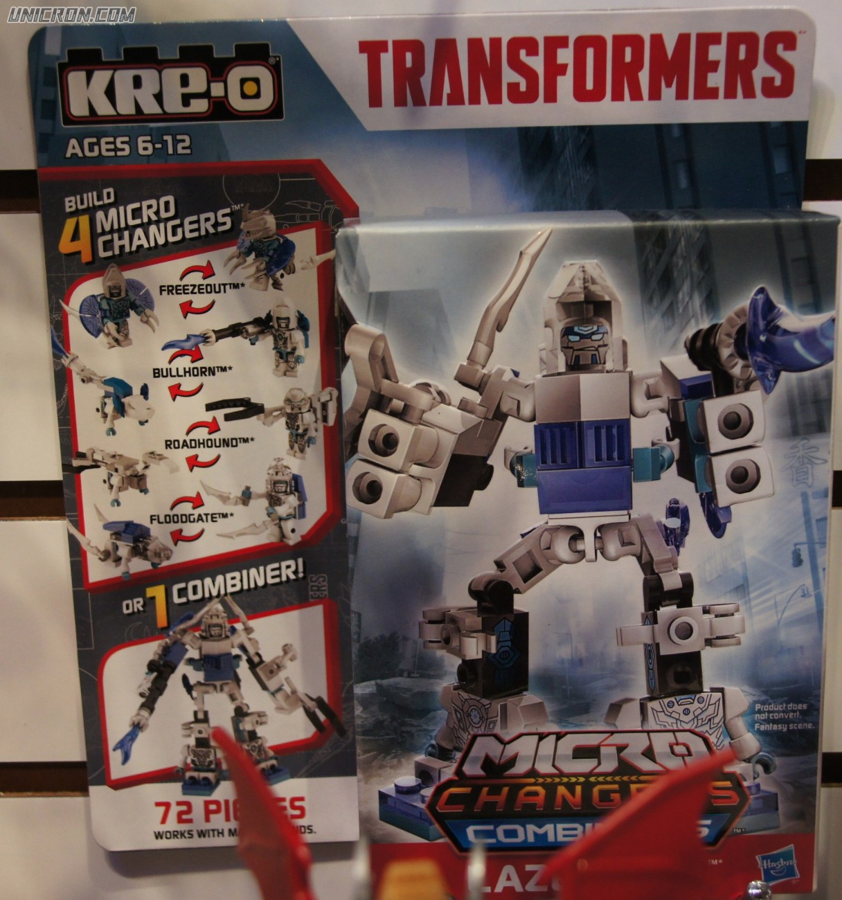 Transformers Kre-O Lazerbolt (Microchanger Combiner with Freezeout, Bullhorn, Roadhound, Floodgate) toy