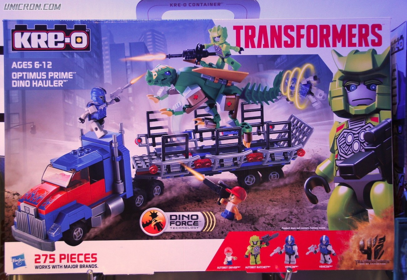 Transformers Kre-O Optimus Prime Dino Hauler (Kre-O, with Ratchet) toy