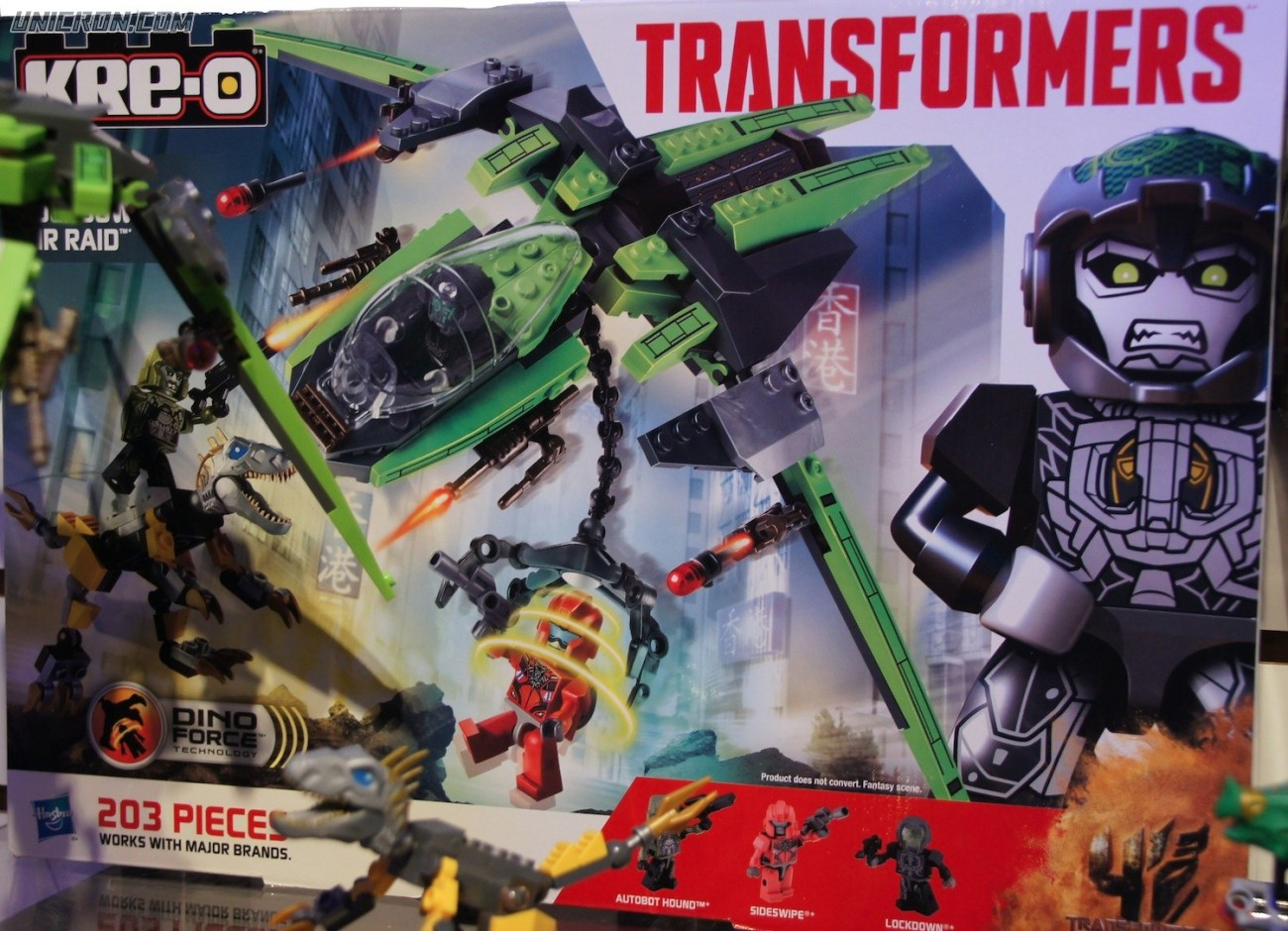 Transformers Kre-O Lockdown Air Raid (Kre-O with Hound and Sideswipe) toy