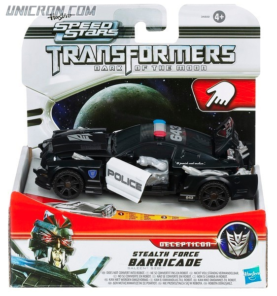Transformers RPMs/Speed Stars Stealth Force Barricade toy
