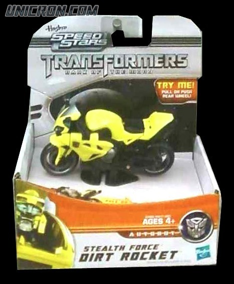 Transformers RPMs/Speed Stars Dirt Rocket (Stealth Force) toy