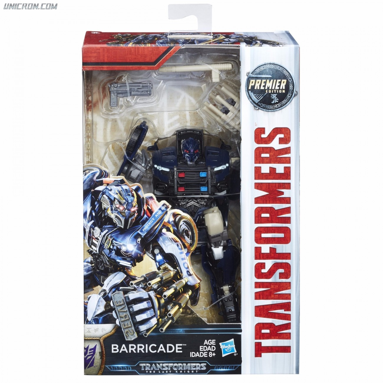 transformers 5 the last knight barricade tlk premiere edition deluxe. Black Bedroom Furniture Sets. Home Design Ideas