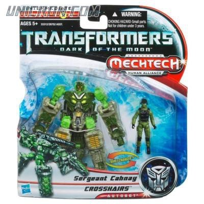 Transformers 3 Dark of the Moon Crosshairs with Sergeant Cahnay toy