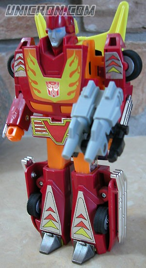 Transformers Generation 1 Hot Rod (Targetmaster) with Firebolt toy