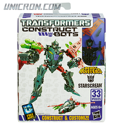 Transformers Construct-Bots Starscream - Beast Hunters, Construct-Bots toy