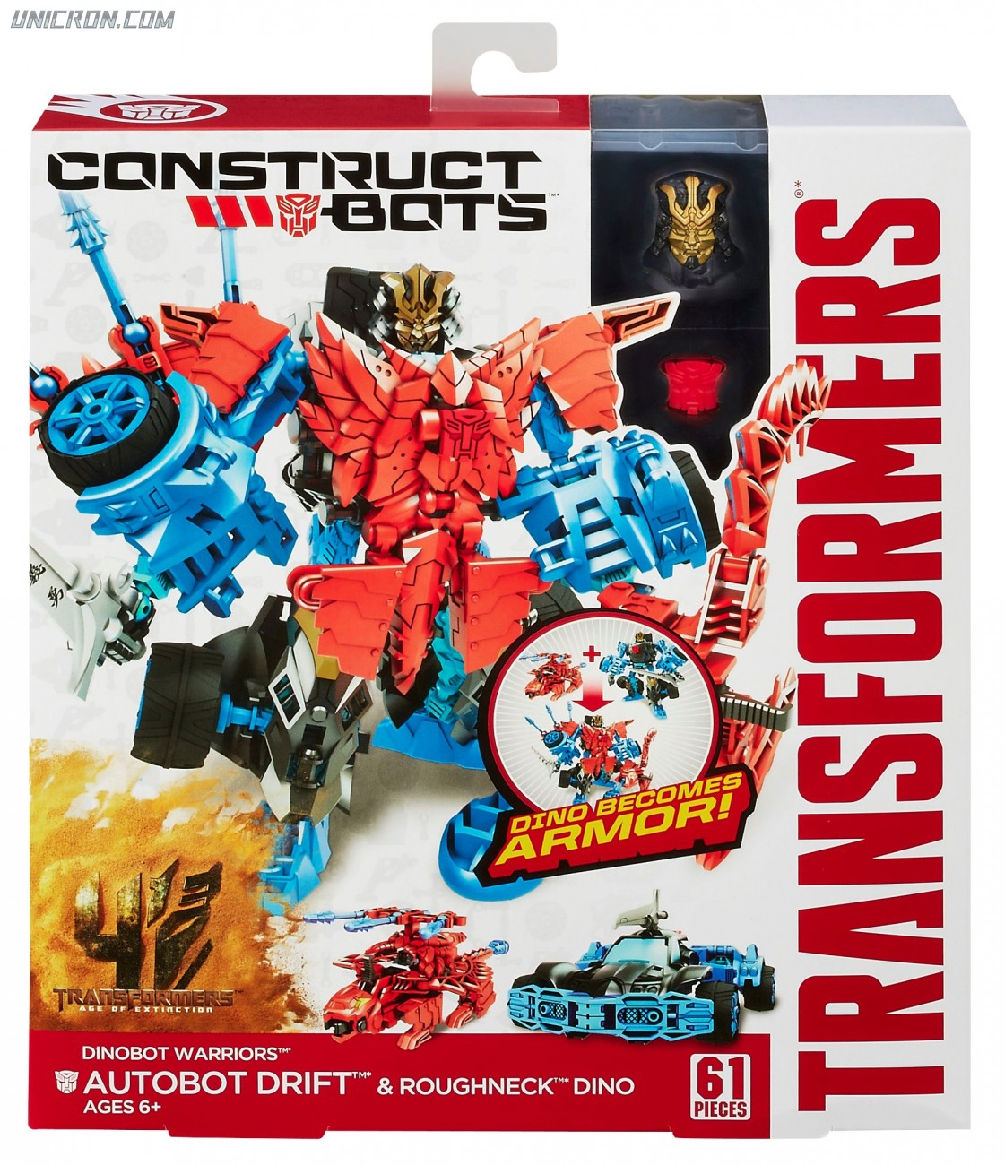 Transformers Construct-Bots Drift with Roughneck - Construct-Bots Dinobot Warriors toy