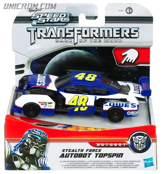 Transformers Speed Stars TOPSPIN Stealth Force Series Dark Moon DOTM NEW