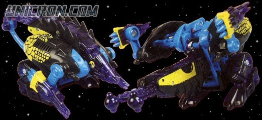 Transformers Beast Machines Dillo (black/blue) toy