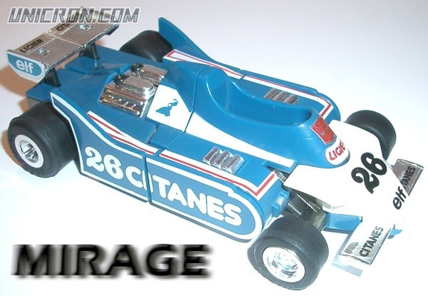 Transformers Generation 1 Mirage toy