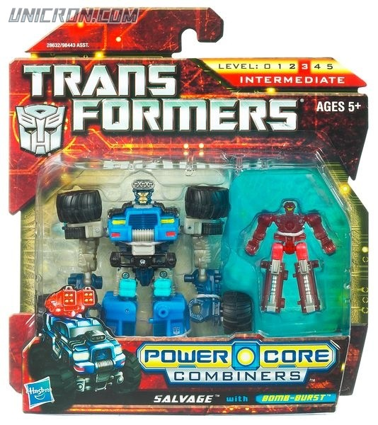 Transformers Power Core Combiners Salvage with Bomb-Burst toy