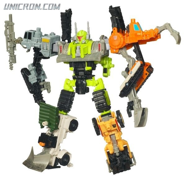 Transformers Power Core Combiners Steamhammer with Constructicons toy